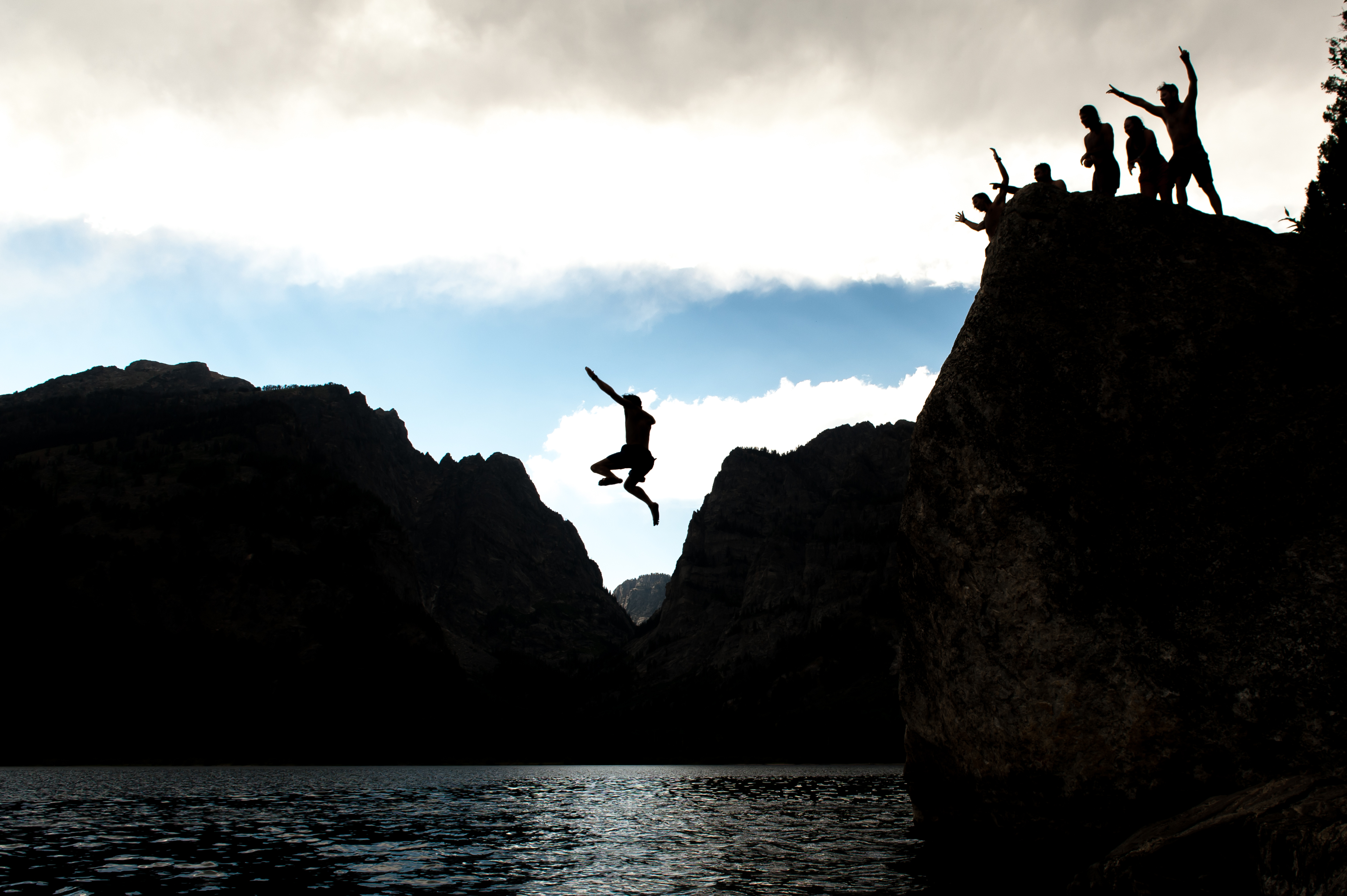 Rock jumping in Grand Teton National Park