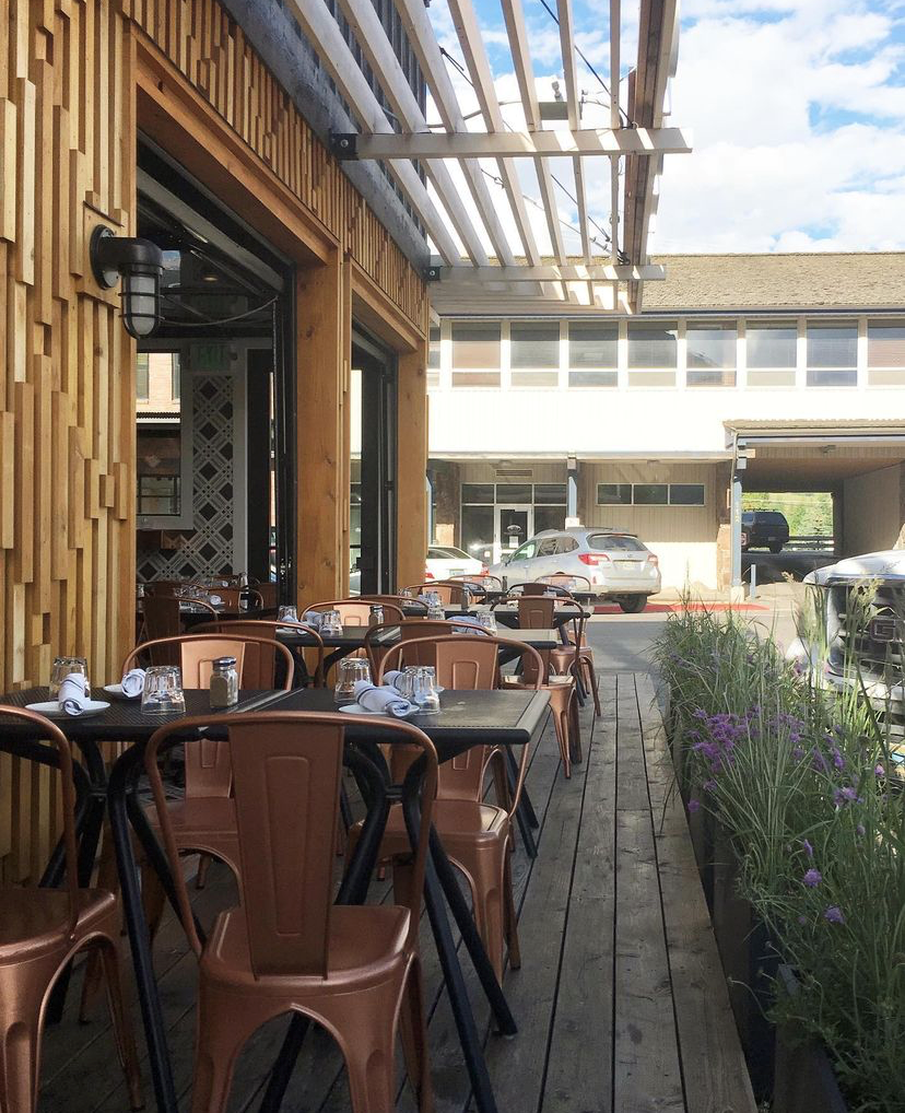 Orsetto outdoor dining in Jackson Hole Wyoming