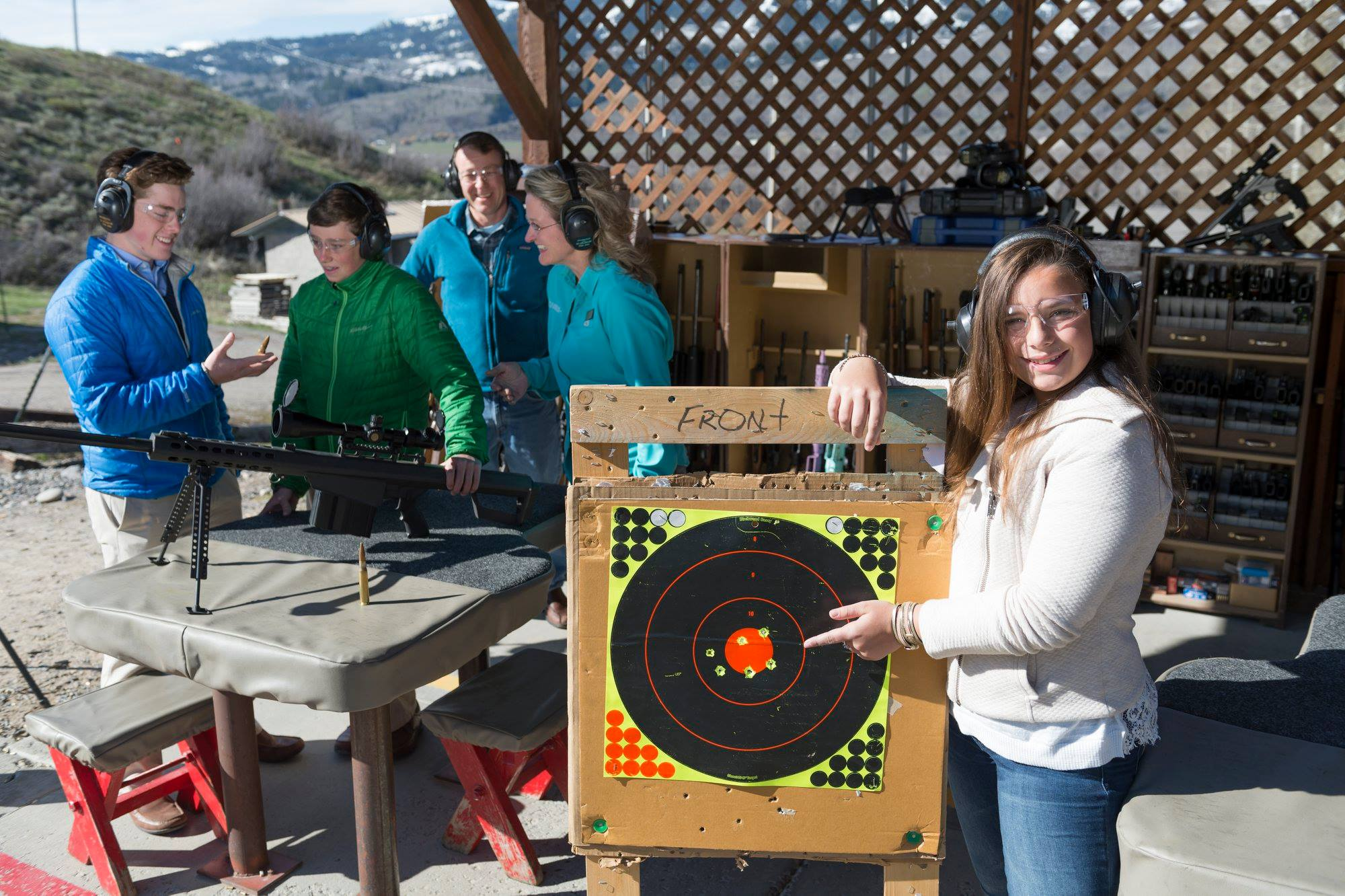 Jackson Hole Shooting Experience Jackson Hole Wyoming Guns Family Shotgun Pistol Rifle AK