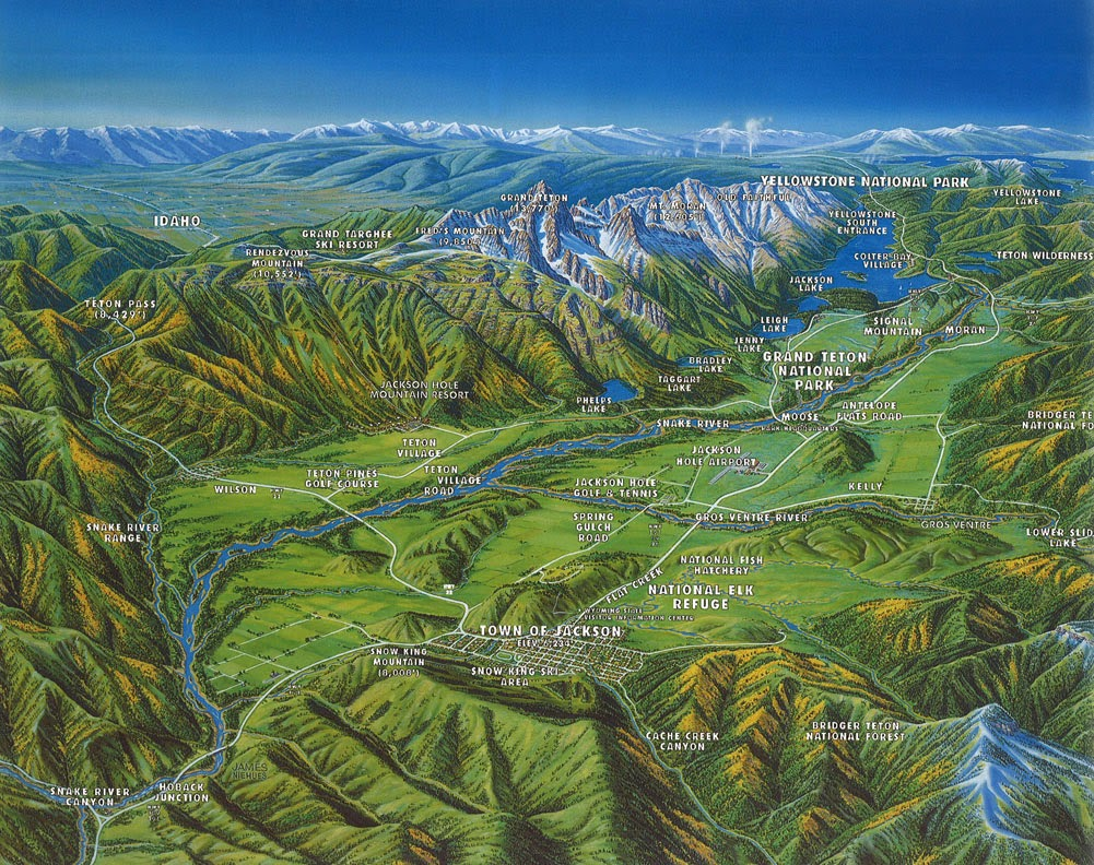 Jackson hole maps jackson hole chamber of commerce for Towns near jackson hole wyoming