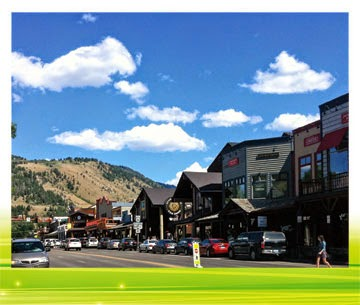 Jackson Hole Wyoming Town Square Shops