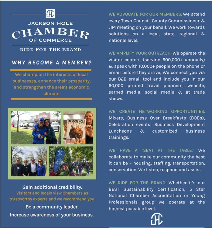 This is Why you should join the Jackson Hole Chamber of Commerce