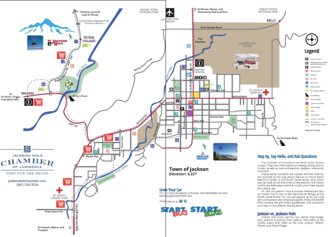 Map of downtown Jackson Hole